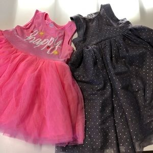 (2) Old Navy Baby Girl 12-18 Month Dresses